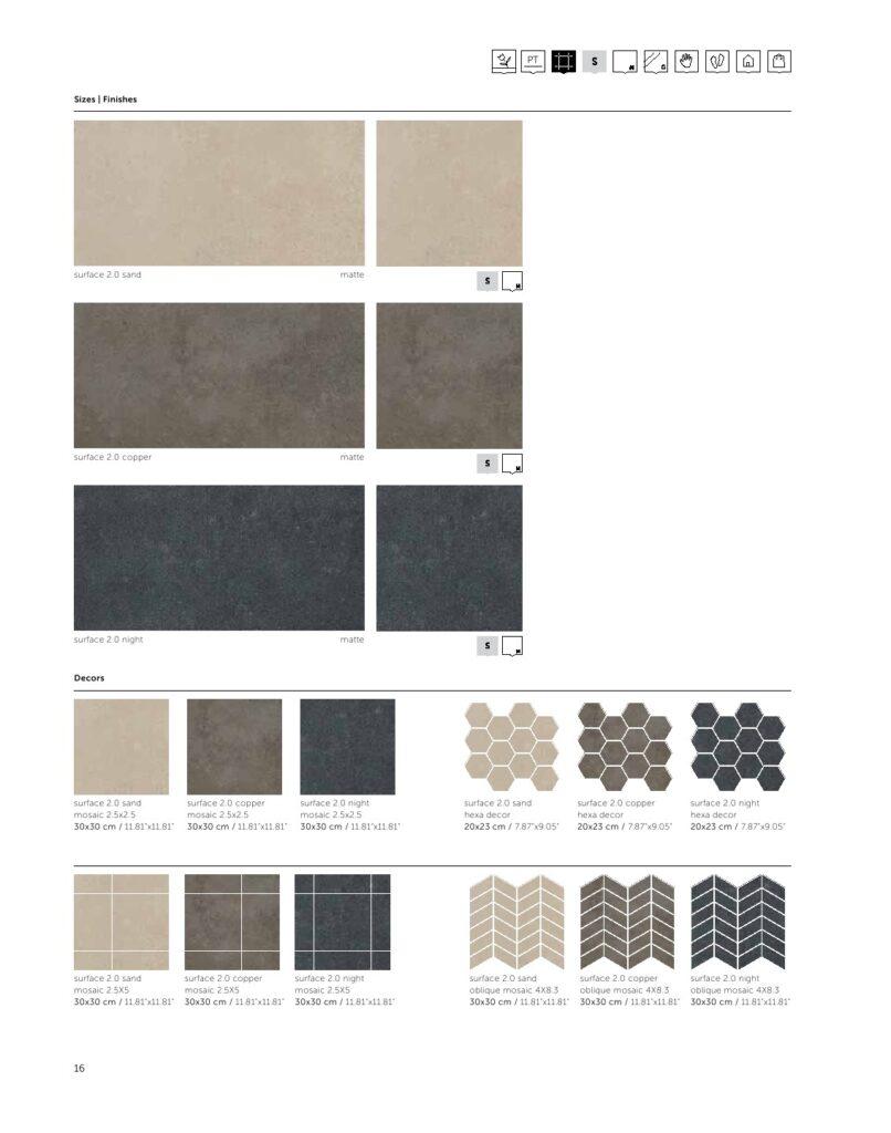 Surface Copper 60*120 | سرامیک طوسی مات | پرسلان |طرح سورفیس