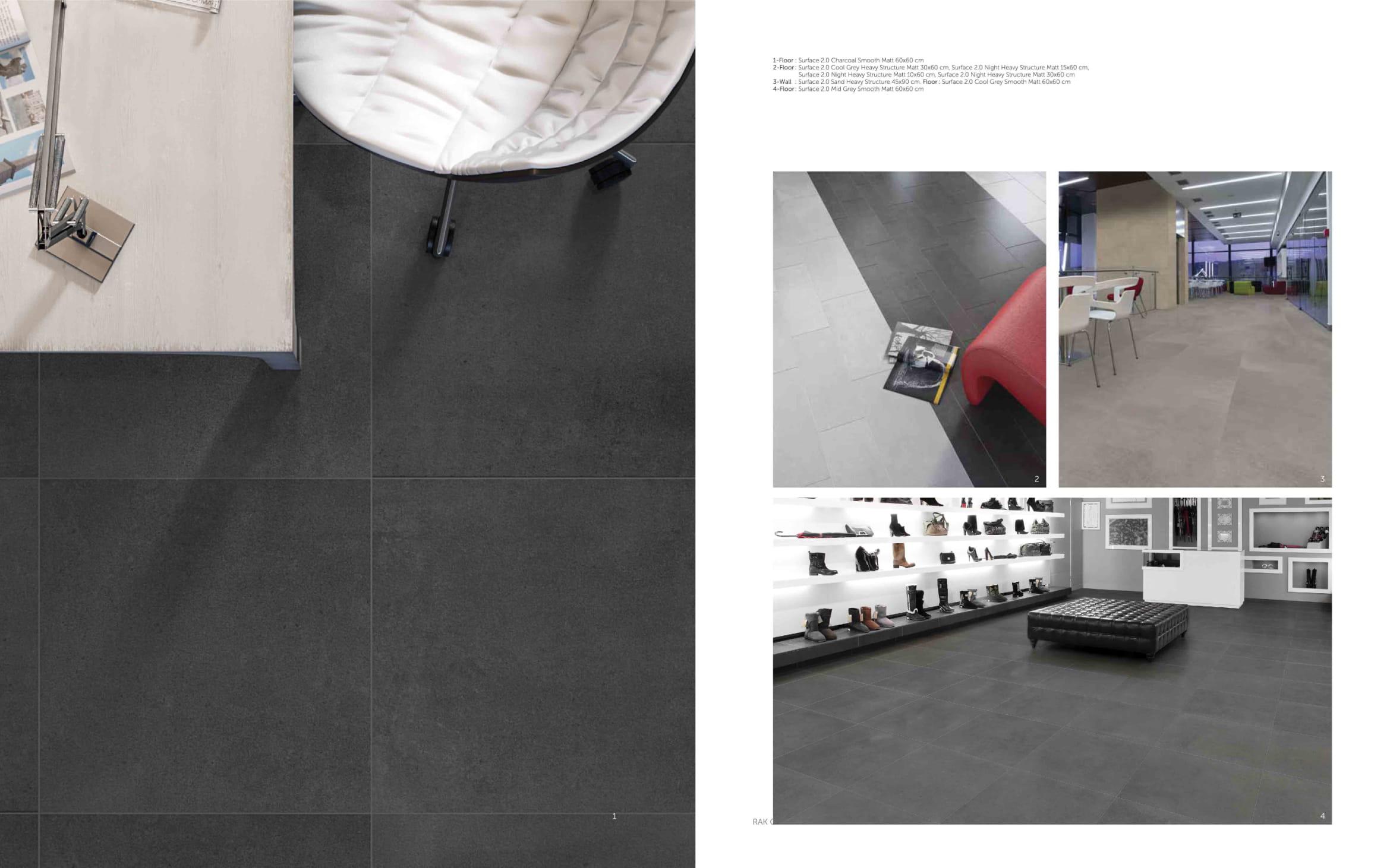 Surface 06 1 - سرامیک طوسی طرح بتن   60در120   پرسلان   سورفیس   طوسی تیره   مات