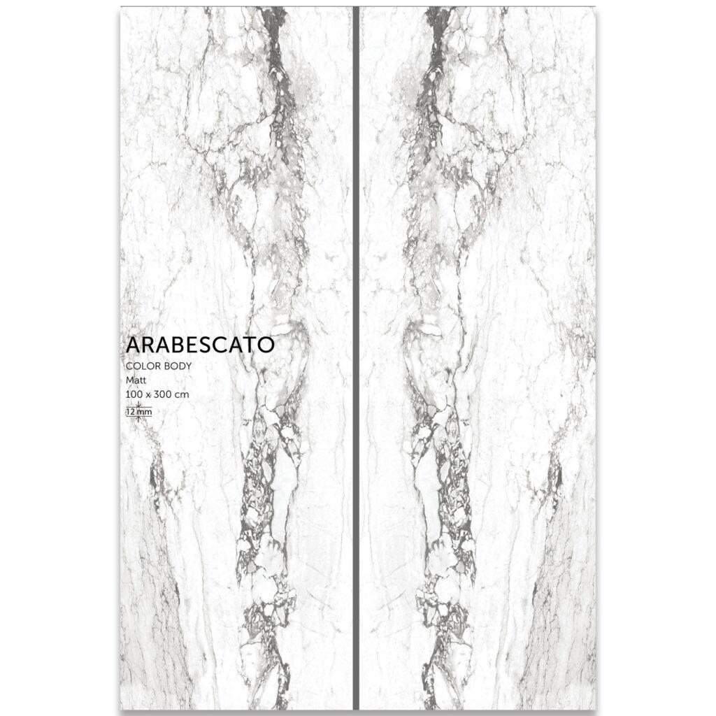 اسلب سرامیک دیوار arabesqato | سایز100در300 | سفید رگه دار | بوک مچ | پرسلان | زیگما
