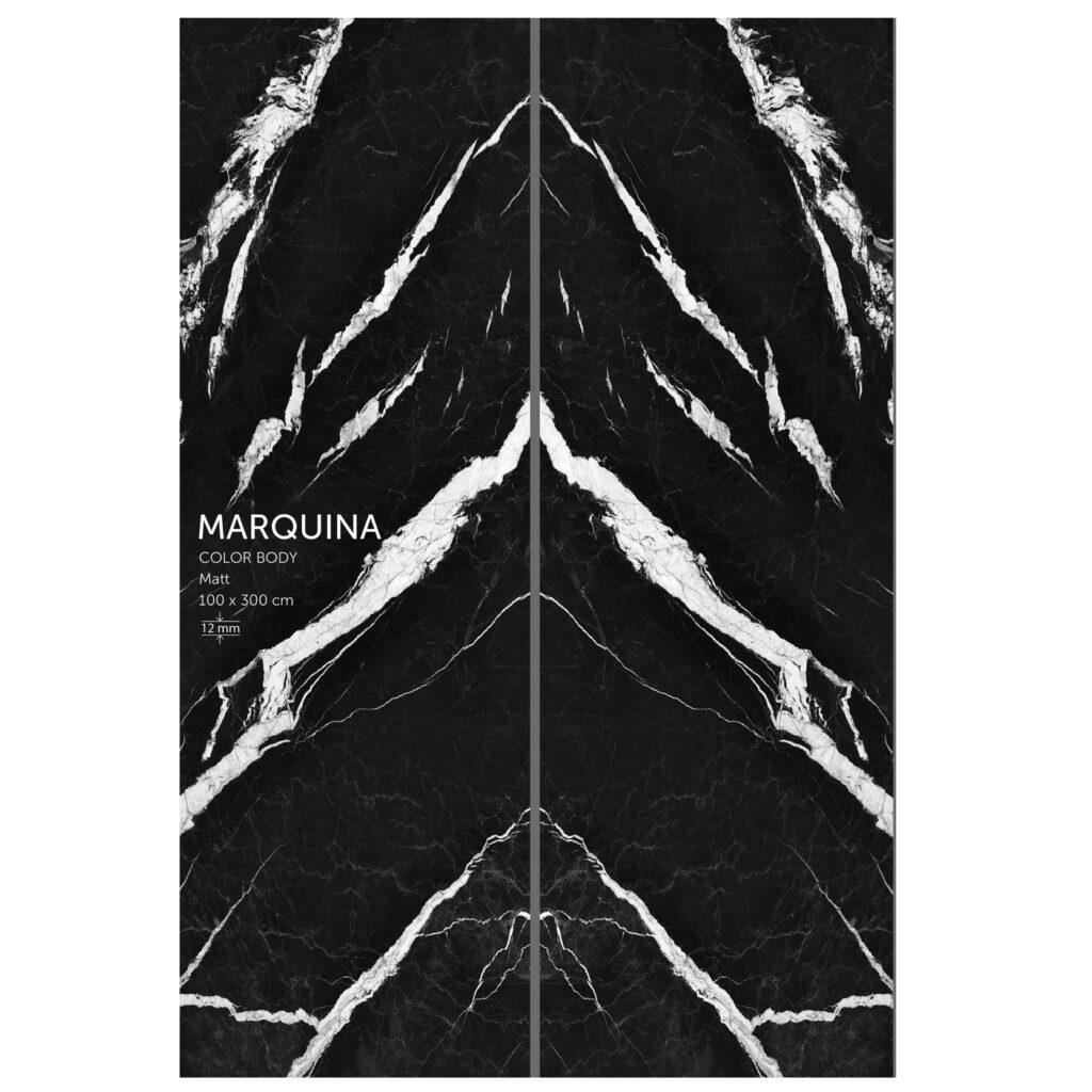 اسلب سرامیک بوک مچ | 100در300 | مشکی رگه دار | کالر بادی | marquina | زیگما